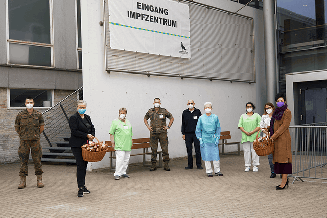 Impfzentrum Wolfsburg - Iris Bothe